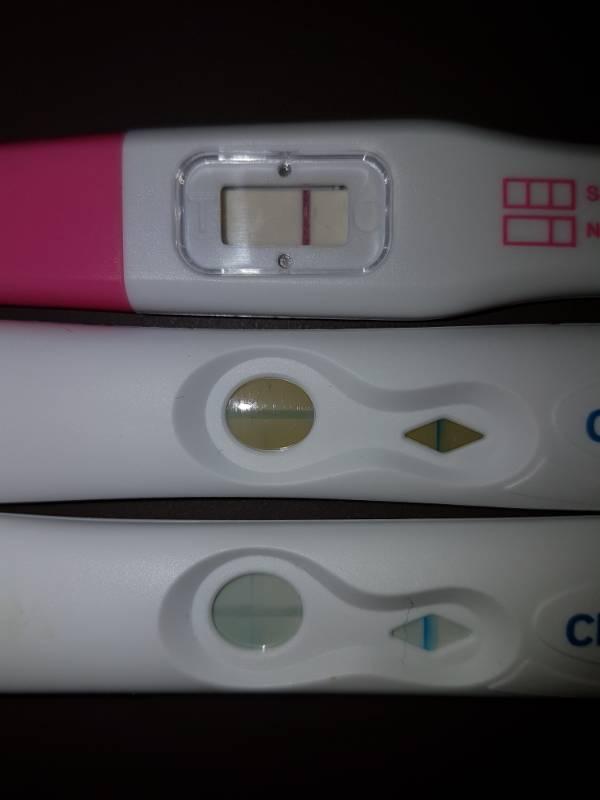 Negativ positiv einmal schwangerschaftstest einmal Schwangerschaftstest Positiv