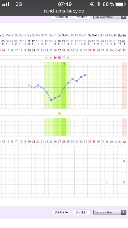 Schwangerschaftskurve nfp Triphasische Kurven