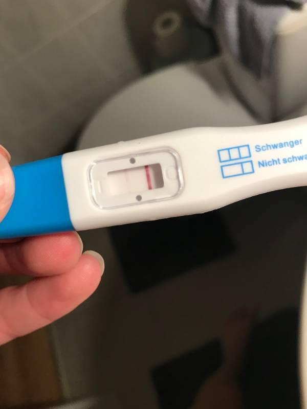 Überfällig negativ test wochen 4 Periode über